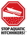 Stop Aquatic Hitchhikers sign